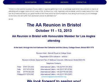AA Reunion in Bristol Website