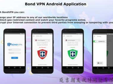 BondVPN mobile application