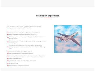 Resolution Response ( Aviation Website)