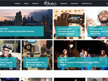 Music web site development