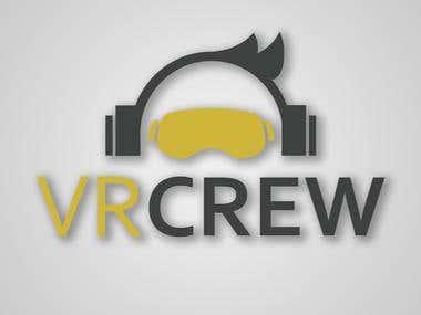 VR Crew Logo design