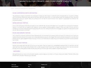Website Copy: Bouchard Entertainment