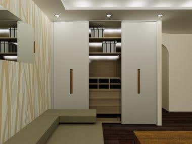 Kitchen and wardrobe Design proposals and Contruction Plans.