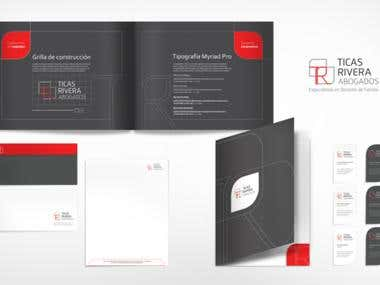 Corporate Visual Identity and Branding for a law firm.