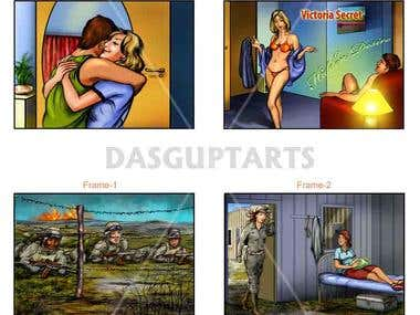 Storyboards for TV, Film, Ads or Animation Films.