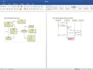 UML Diagrams, Class, Activity, Use cases