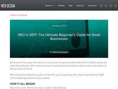 Blog Article Writing: OSC Web Design