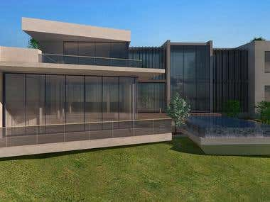 3-D Architectural Model and Renders