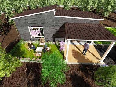 Organic farm house and landscape design