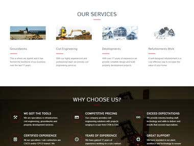 Website for a Construction Company using Enfold Theme