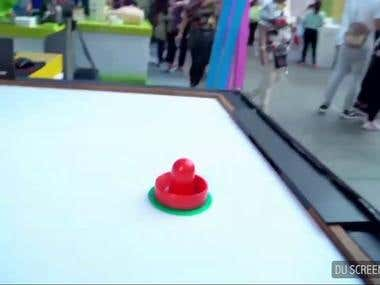 Local TV interview of air hockey robot project