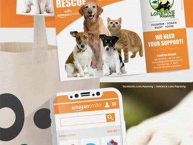 Flyer design for a animal rescue Non-profit