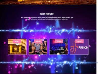 Fusion Club Website