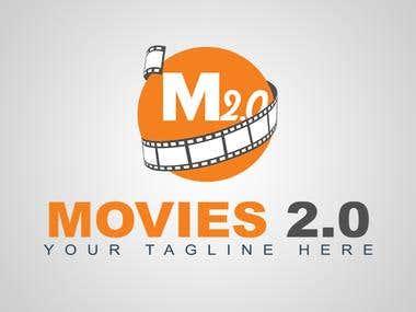 Movies 2.0 Logo design