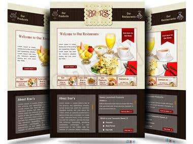 Brar's Restaurant Facebook Fanpage Design