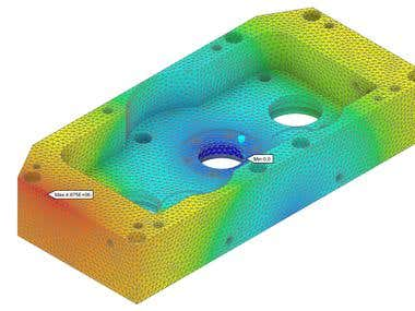 FEA Analysis to a steel piece
