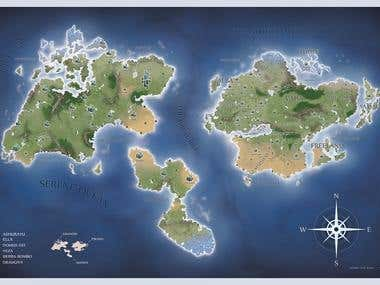 Map for a fantasy world