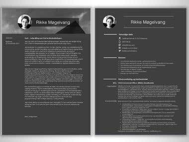 Resume Design with cover page