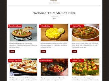 Online Pizza delivery website