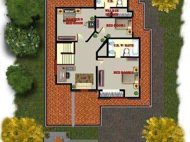 Presentation Floor Plan and 3d Floor Plan