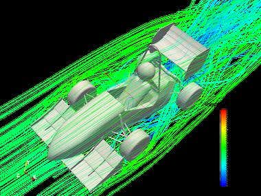 CFD simulation of the FSAE Vehicle