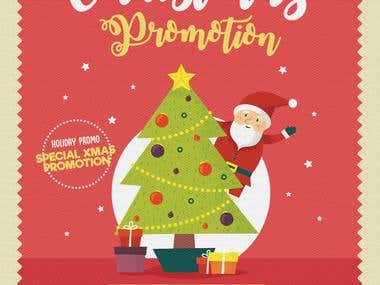 Christmas Promotion Graphic Design for building company