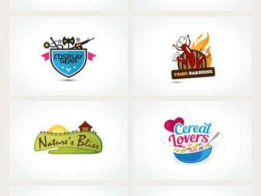 Character & colorful logos