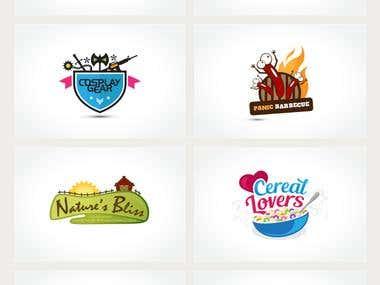 Character & colorful logos