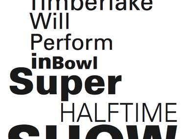 Headlines typography