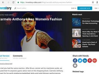Carmelo Anthony Likes Women's Fashion