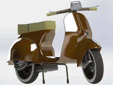 Motor Scooter Modeling(SolidWorks)