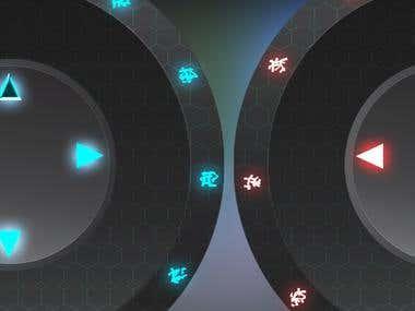 Virtual Joystick Sci-Fi