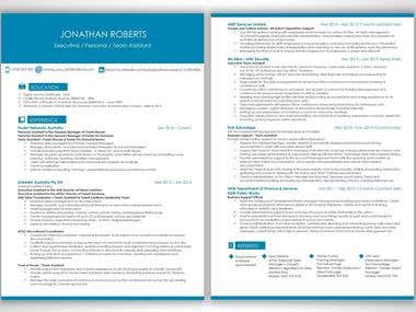 Resume in blue theme
