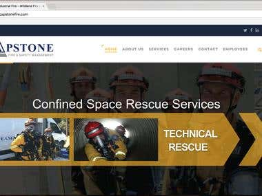 Capstonefire WordPress Website