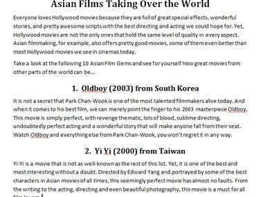 Film & Cinema Articles