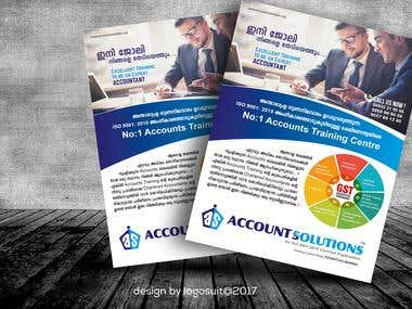 Flyer Design Account Solution