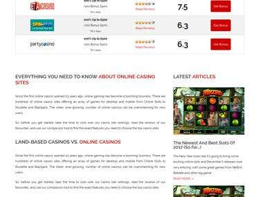 Custom Casino Review Wordpress Site