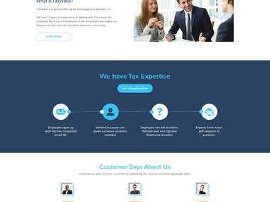 Website Mock in PSD