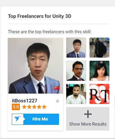 Top Freelancers for Unity 3D