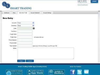 Smarttraders.net - Online trading application, where user ca