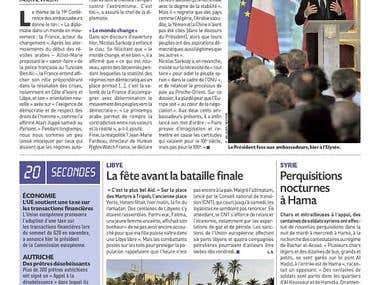 Article for a french popular Newspaper: french politic