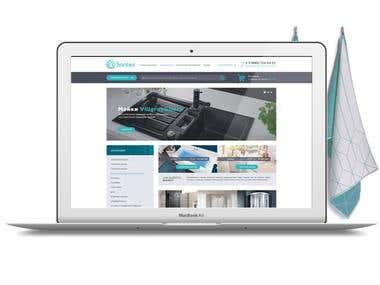 SANTEX website design