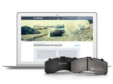 Kuzzap website design