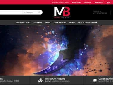 Melee Blade eCommerce Store in Wordpress for Local's