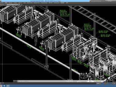 Isometric Plant Layout of a Desalination Plant