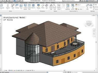 Architectural Revit Model of Villa