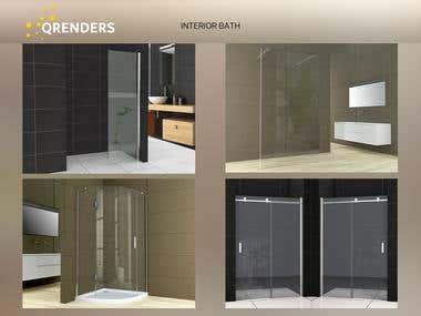 3D Interior rendering (Bathroom)