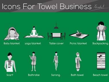 Icons For Towel Business