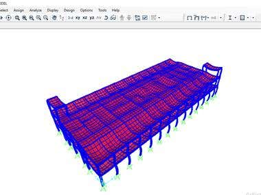 3D structural Modeling For two Floors R.C. Building