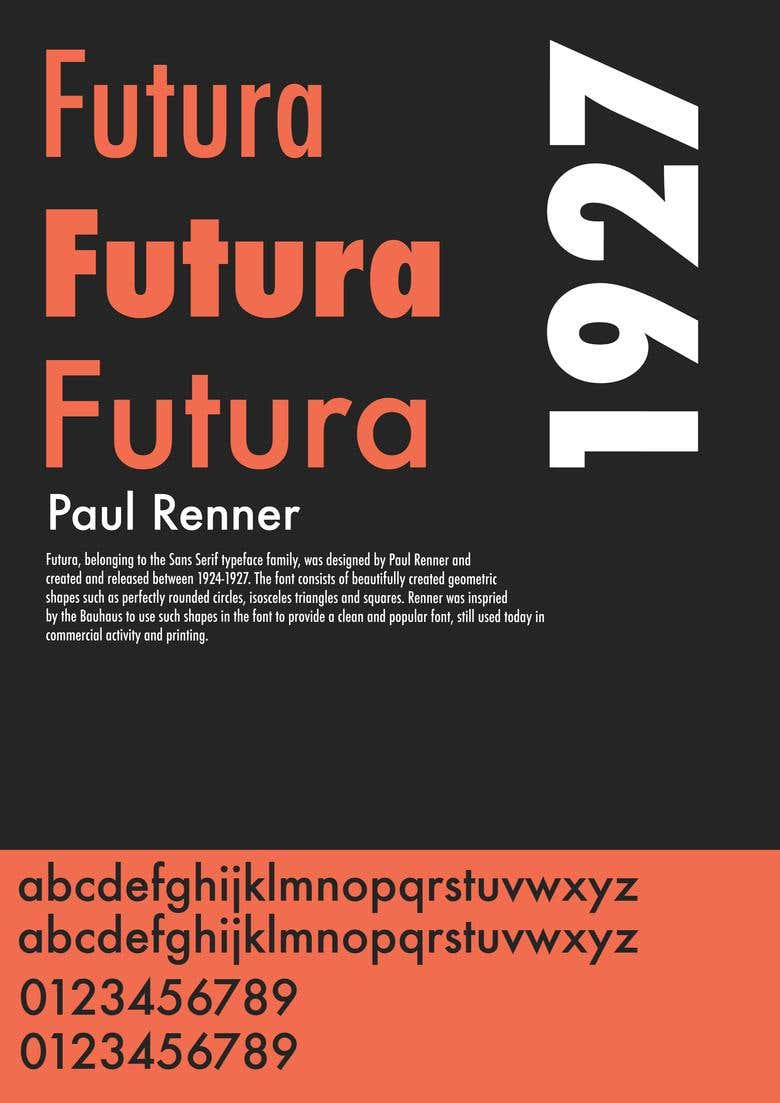 Futura Typeface Project | Freelancer